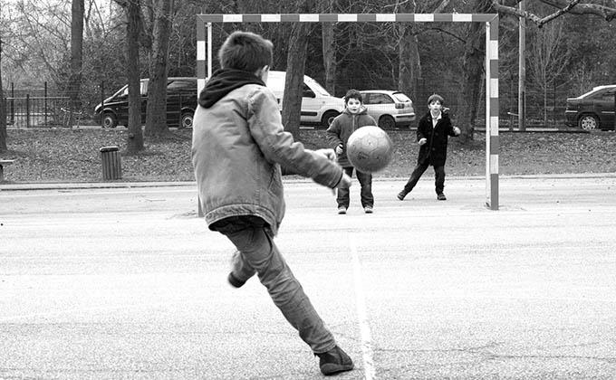 futbol, jugar, niños, deporte