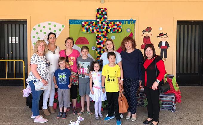 Cruz ganadora en infantil Colegio San José de Calasanz orgiva