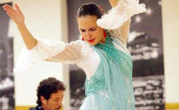 La profesora de inglés y bailaora flamenca Natalie Salgala