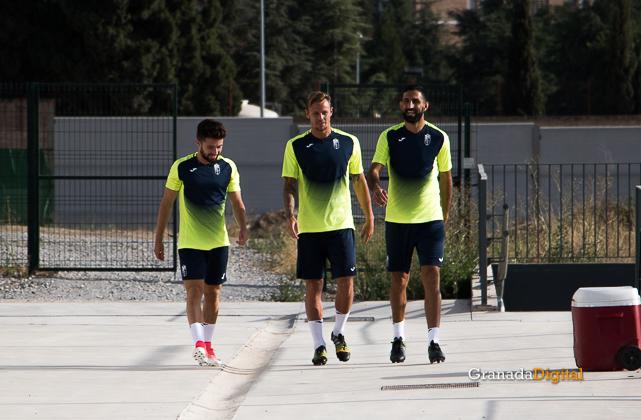 Granada CF pretemporada 2017 primer entreno-8 iriondo charlie dean y menosse
