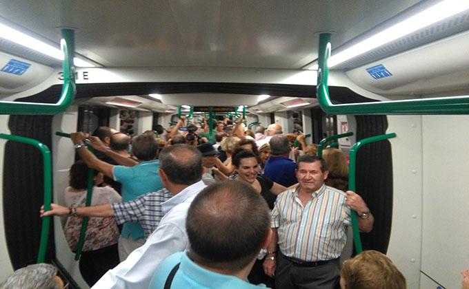 Metro Granada inauguración