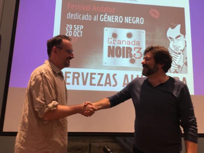Gabriel Hernández Walta y Juanjo Guarnido en Granada Noir