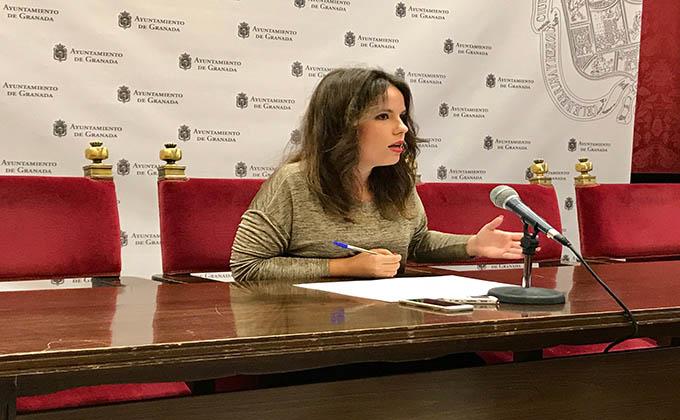 La concejal Lorena Rodríguez, en rueda de prensa