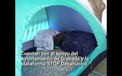 Un matrimonio acampa en la Plaza del Carmen para evitar su desahucio