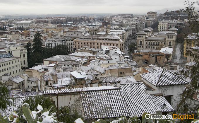 Primera nevada del año en Granada 06