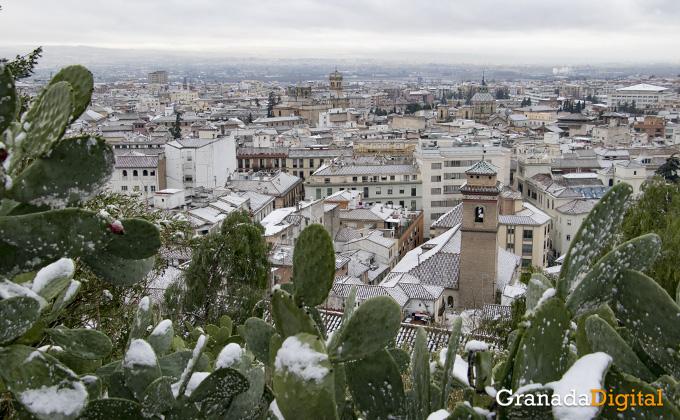 Primera nevada del año en Granada 07