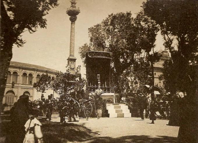 1904-exhorno en el Triunfo para el corpus