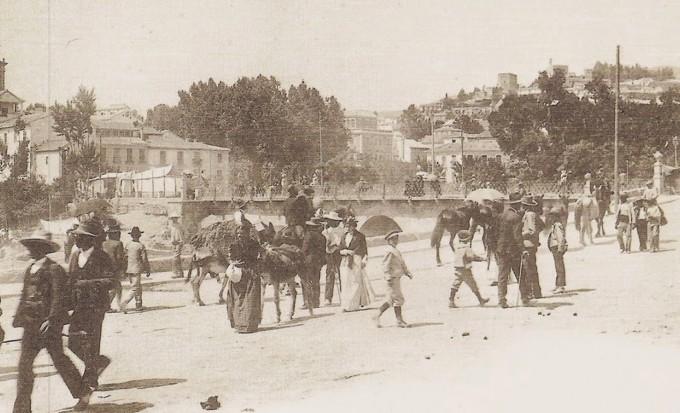 Feria de ganado en el Violón en el Corpus de 1902