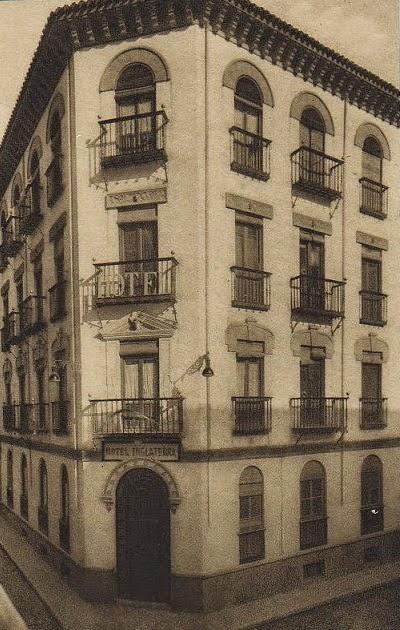 Hotel Inglaterra en 1926 - Efemérides Granadinas