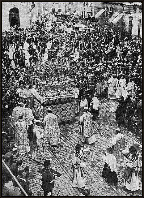 Procesión del Corpus en 1923