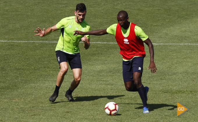 Entrenamiento del Granada CF Adrian Ramos Pablo Vazquez