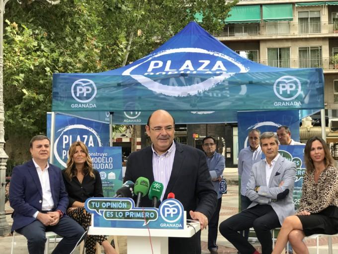 Sebastián Pérez en la presentación de Plaza Popular 28.9.18