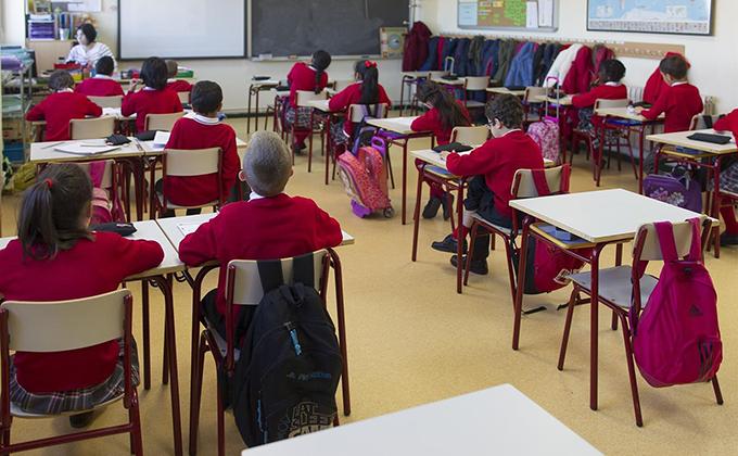 colegio aula escuela alumnos profesor