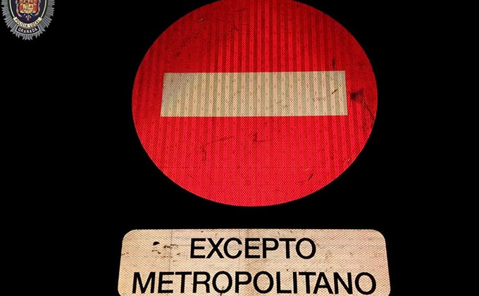 trafico prohibido paso metro