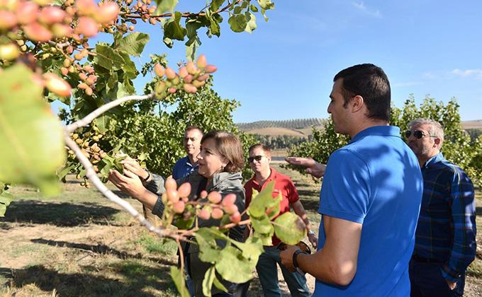 visita comarca los montes guadahortuna agricultura