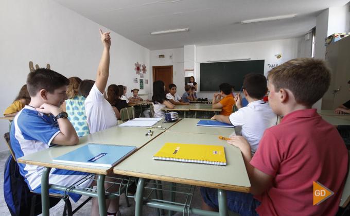 vuelta al colé en el colegio San Isidoro de Granada