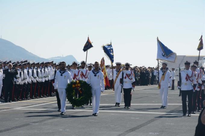 jura bandera portaaviones
