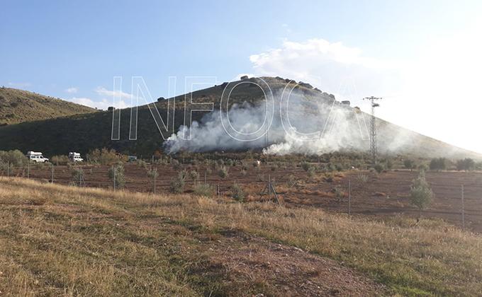 incendio forestal baza
