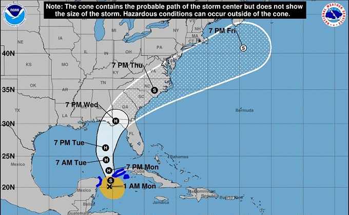 tormenta tropical michael