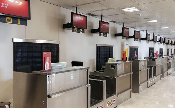 zona de facturacion del aeropuerto de granada