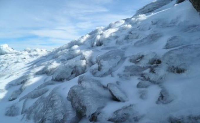 hielo parque sierra nevada