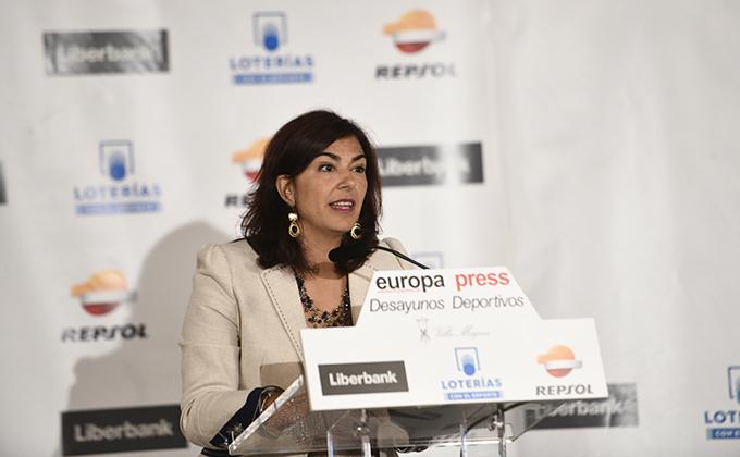 María José Rienda, presidenta del Consejo Superior de Deportes, protagoniza el Desayuno Deportivo de Europa Press