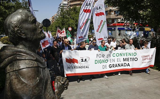 metro granada trabajadores huelga