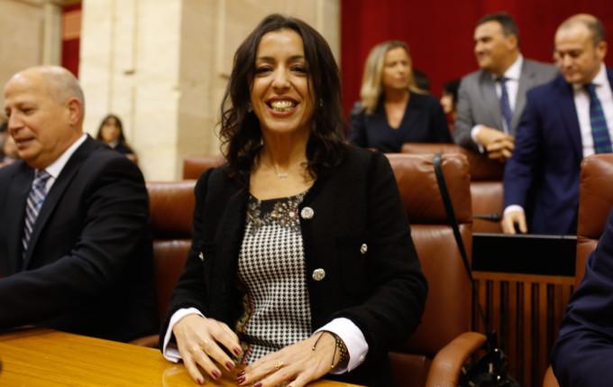 Sesión constitutiva del Parlamento andaluz de la XI legislatura. Susana Díaz. Juan Marín y Marta Bosquet
