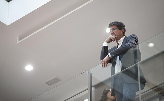 El candidato de Ciudadanos a la Junta de Andalucía, Juan Marín, durante la reunión del Comité Ejecutivo Nacional del partido en Madrid