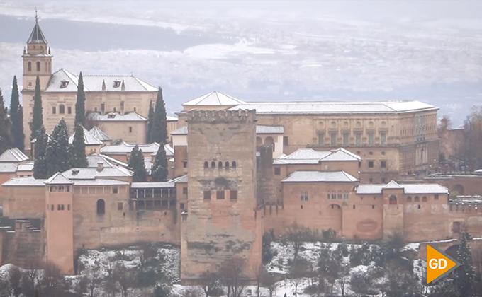 alhambra nevada NIEVE enero 2018