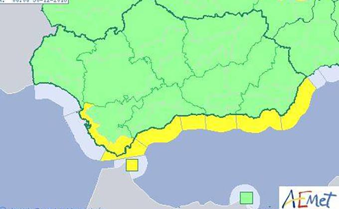 aviso amarillo fenomenos costeros