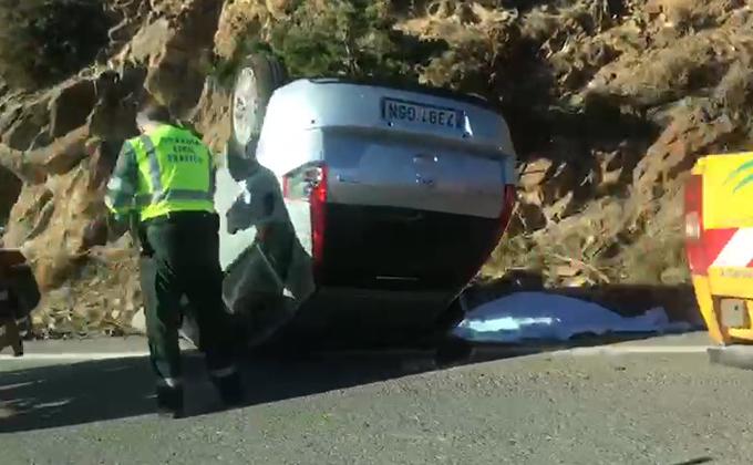 foto accidente carretera sierra