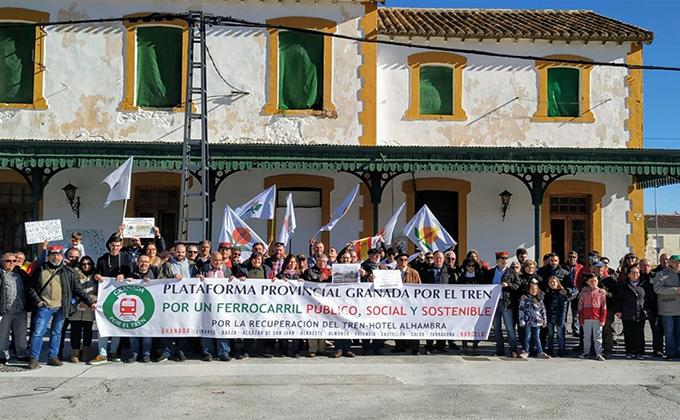 reivindicacion línea Guadix - Baza - Almanzora - Lorca de Amigos del Ferrocarril Comarca de Baza