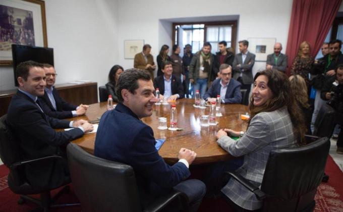 reunion PP-A y Ciudadanos Andalucía