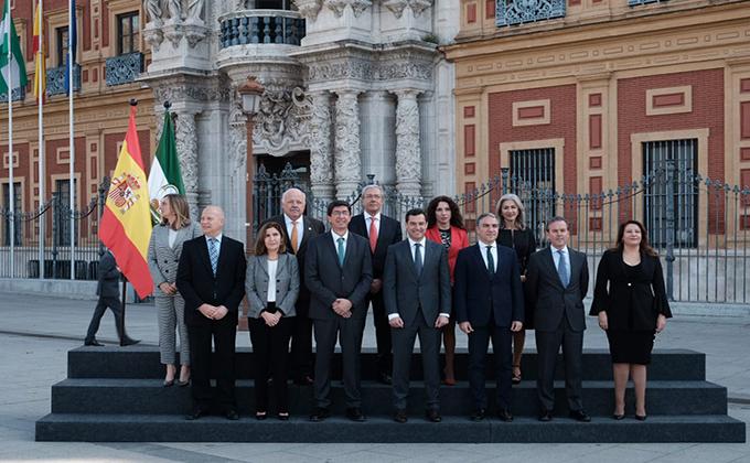 11 consejeros Junta de Andalucía y presidente Juanma Moreno 220119
