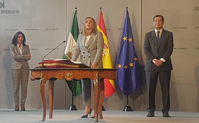 Marifran Carazo jura su cargo consejera Junta de Andalucía