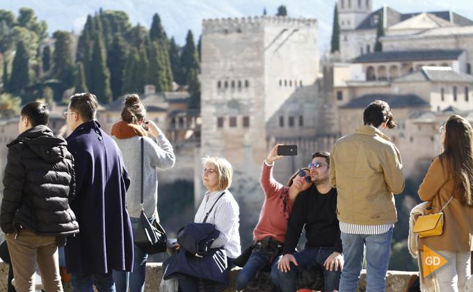 albaicin turistas alhambra