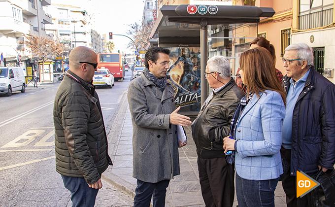 Mejora de accesibilidad aceras y paradas de autobuses Zaidin