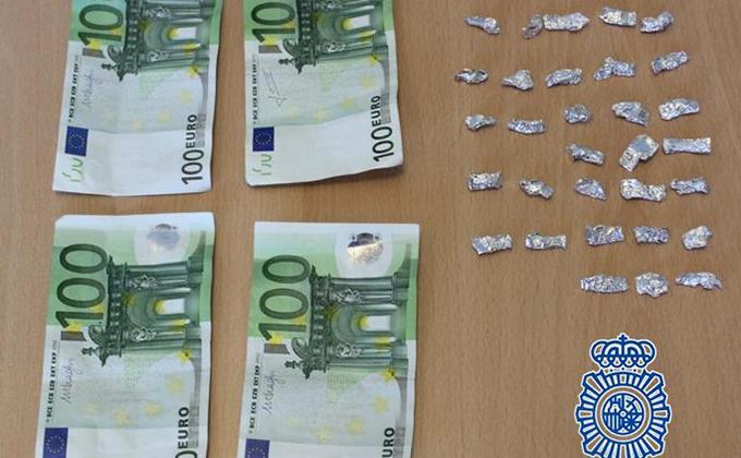 heroina y dinero