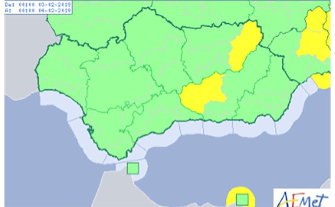 mapa aviso temperaturas minimas
