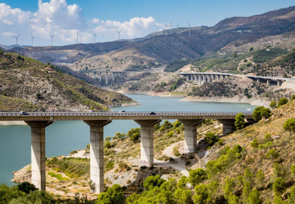 A-44 autoroute through Sierra Nevada mountains