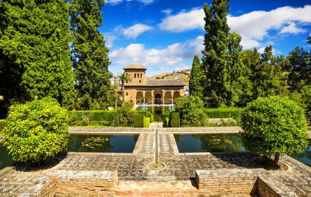 Partal Palace in La Alhambra,Granada (Andalusia), Spain