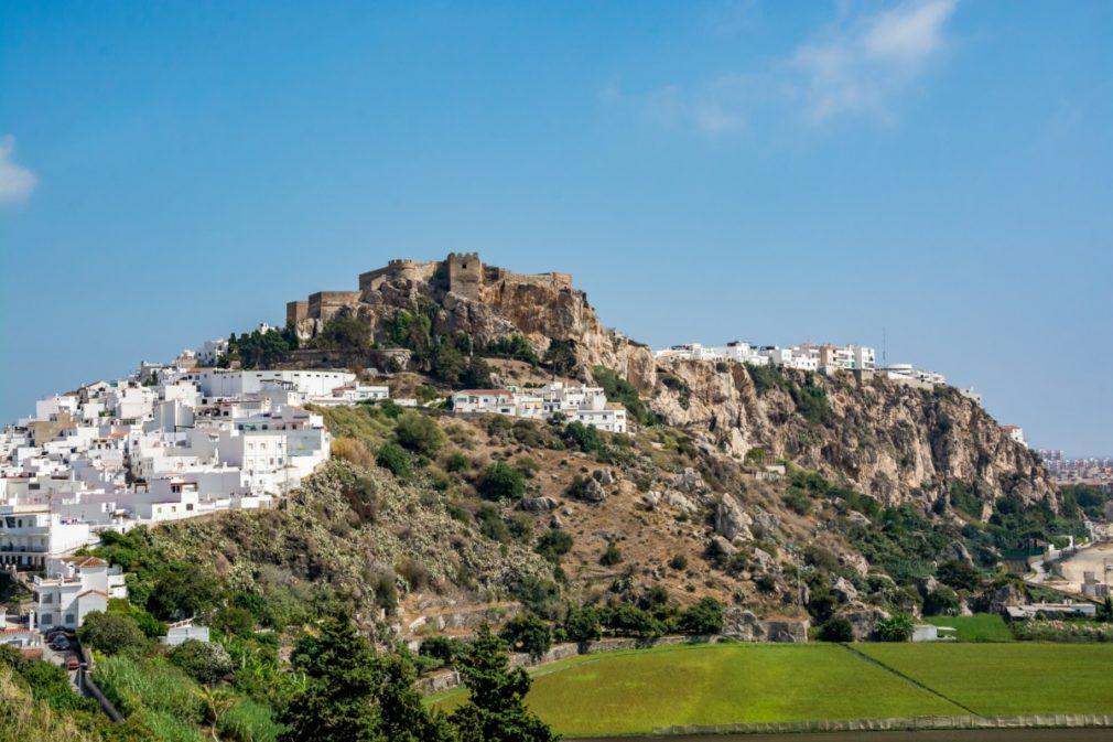 View of the castle of Salobrena (Castillo De Salobreña), Spain
