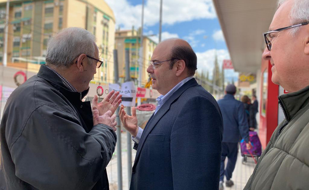 Sebastián Pérez durante la visita a La Chana 20.3.2019
