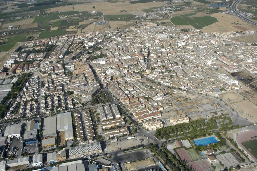 Vista aérea de la localidad de Albolote 2