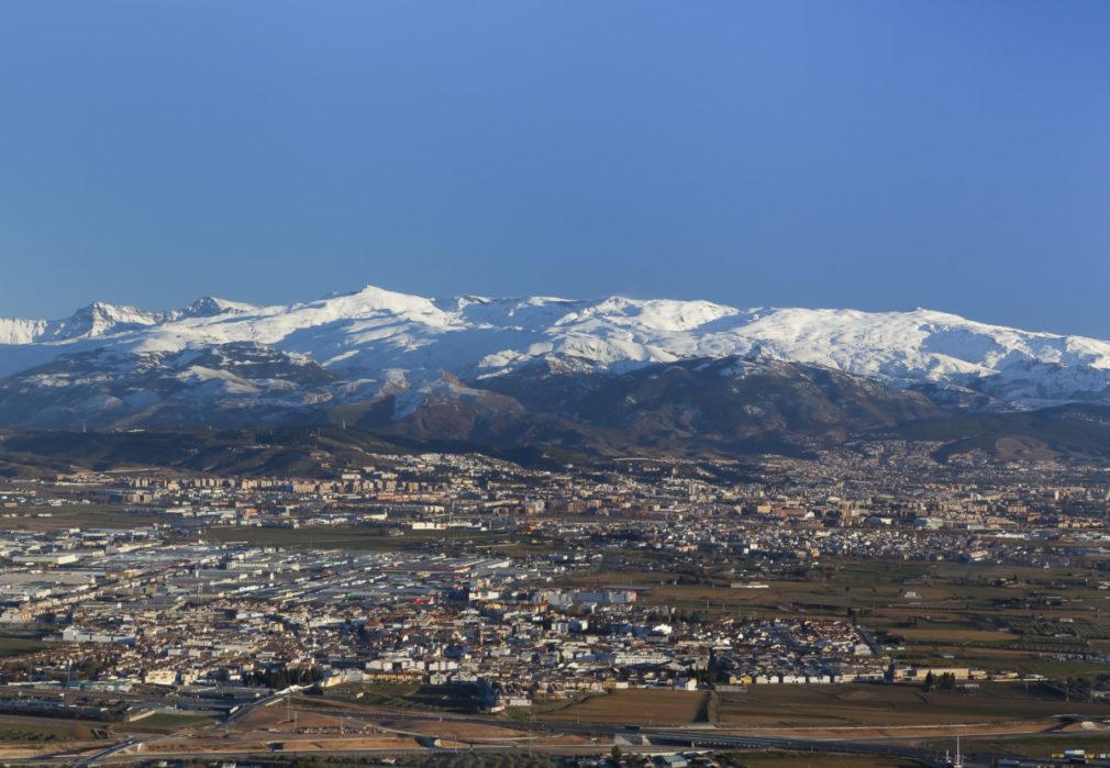 Panorámica de la ciudad de Granada, España