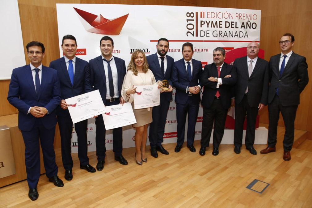 Entrega del premio PYME del año de Granada en la Cámara de Com