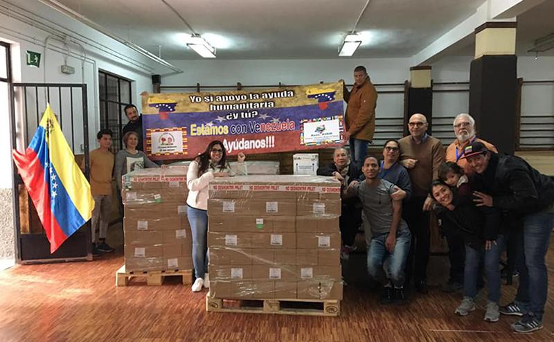 recogida medicamentos Asociación de Venezolanos Amigos del Mundo
