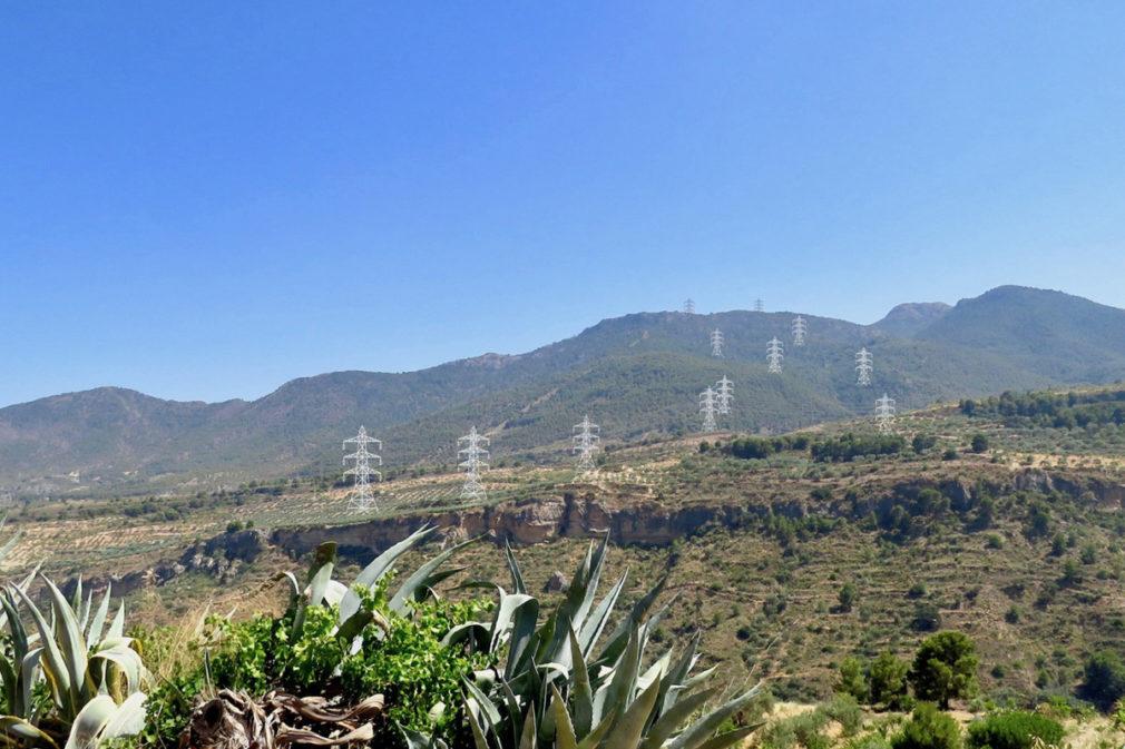 valle de lecrin torres de alta tensión