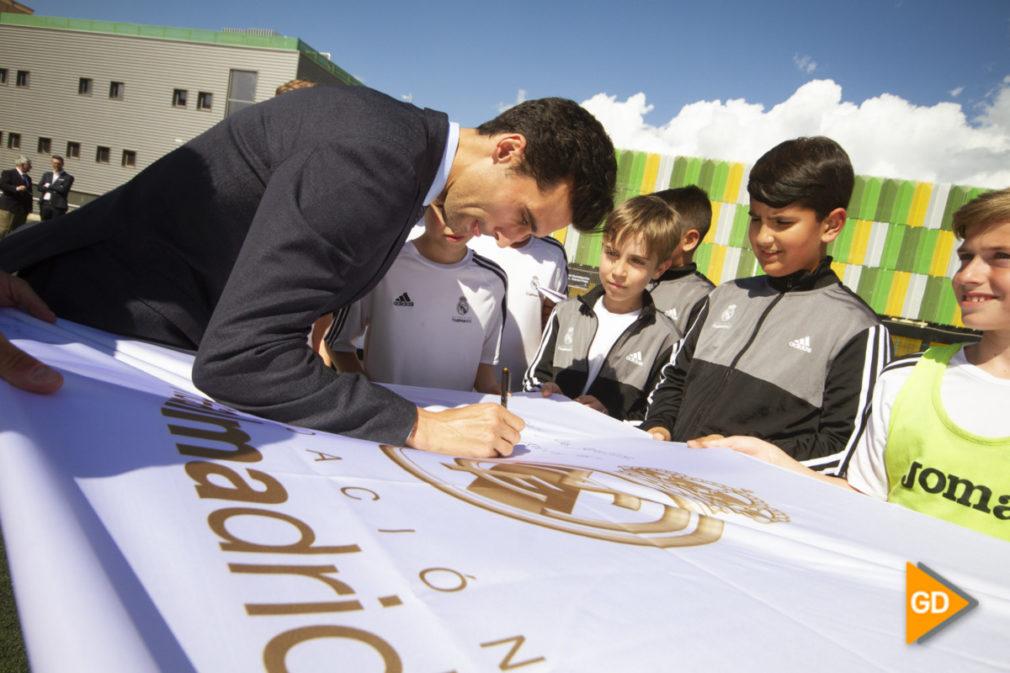 Acto de clausura de la Fundacion Real Madrid con Alvaro Arbeloa en Inacua Antonio Prieto